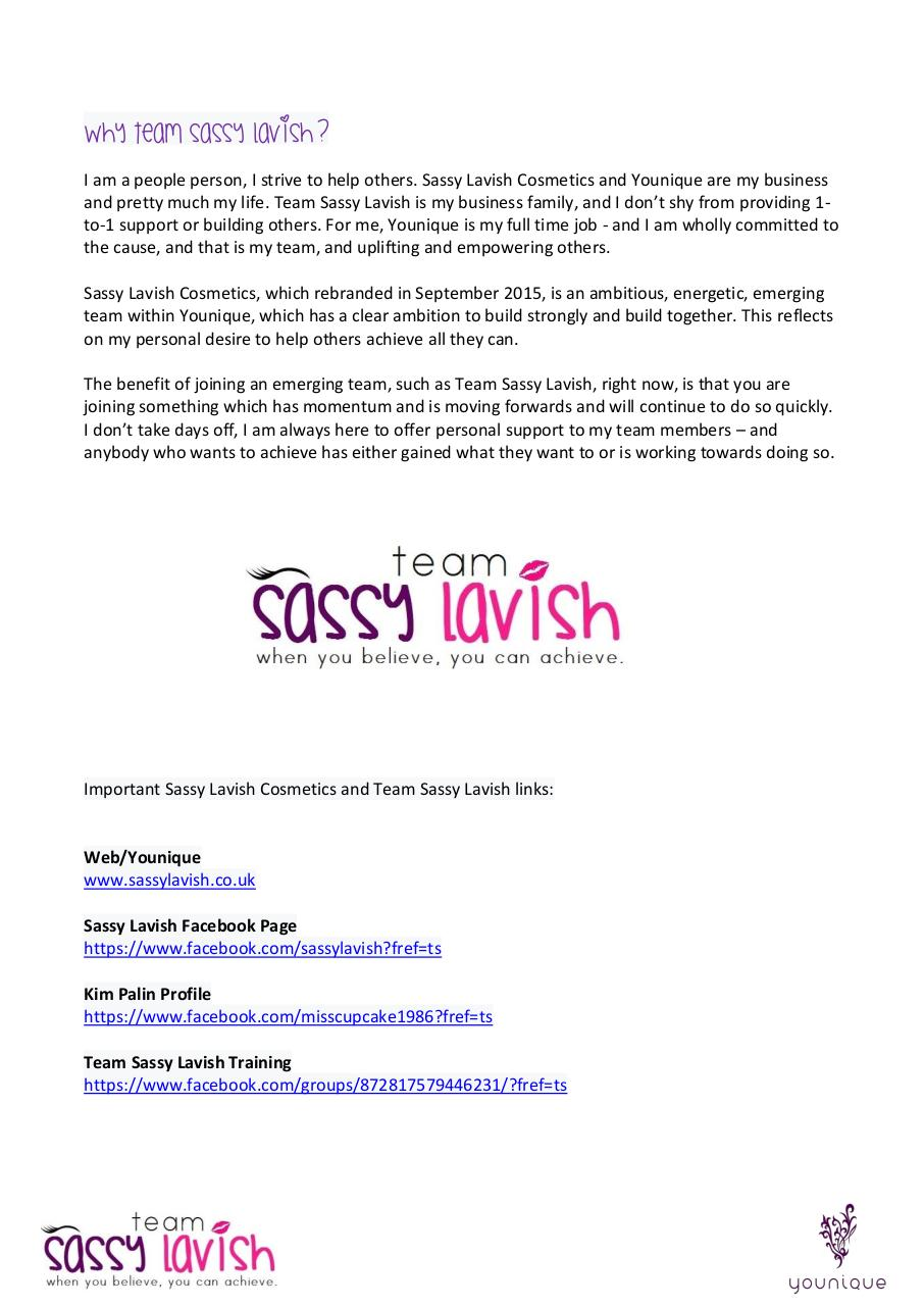 New Starter Presentation Pack - Team Sassy Lavish.pdf - page 3/10