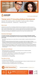 trainee it consulting software development
