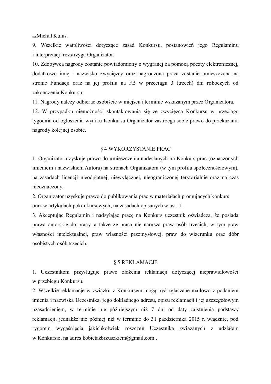 Document preview regulamin.pdf - page 3/4