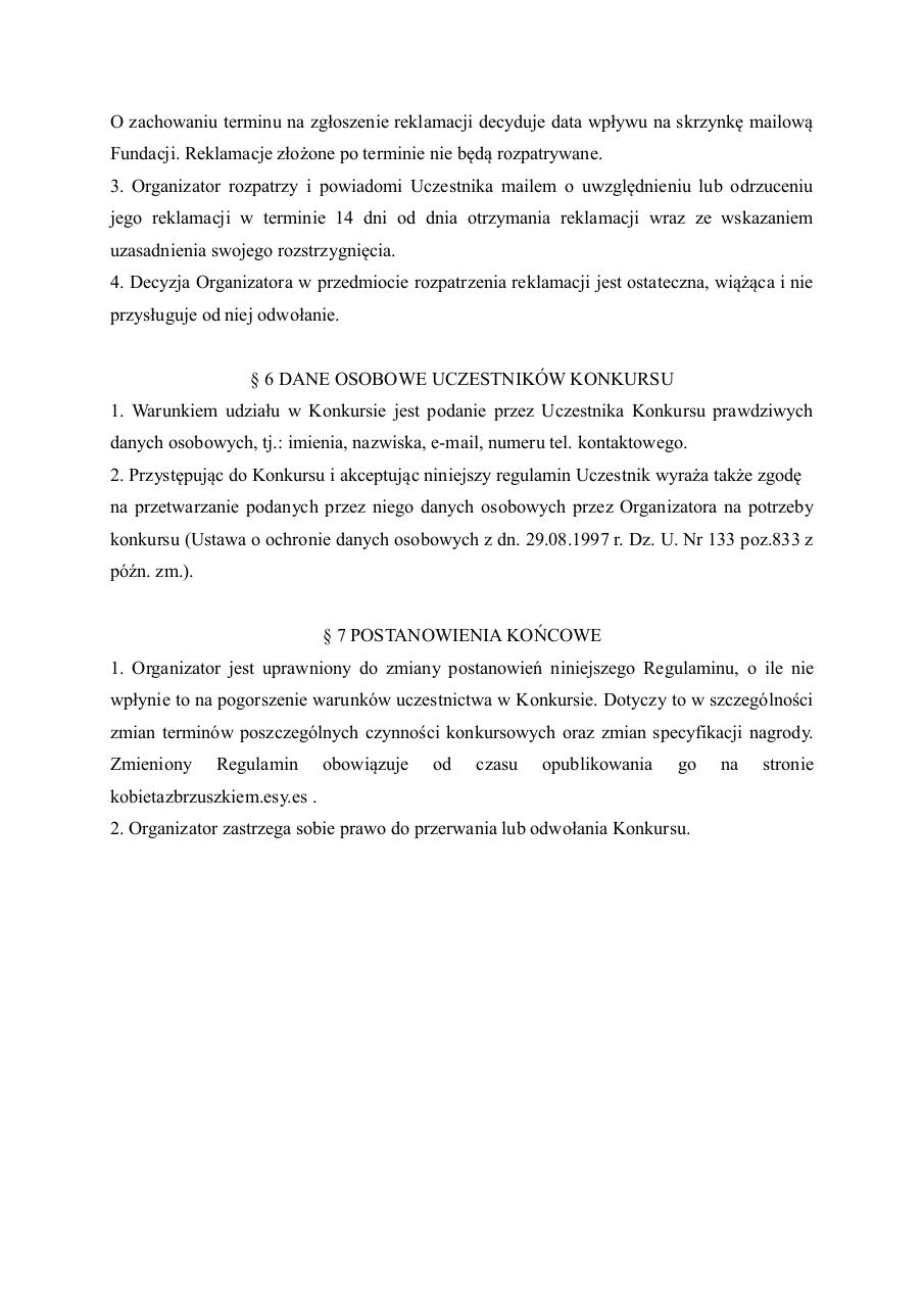 Document preview regulamin.pdf - page 4/4
