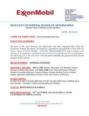 exxon contract appointment letter