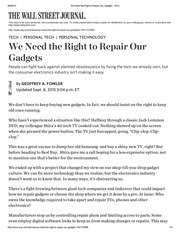 we need the right to repair our gadgets wsj