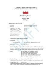 august 11 meeting minutes draft 1