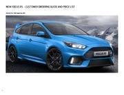 ford focus rs price list 16th september 2015