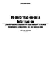 desinformacion en la informacion
