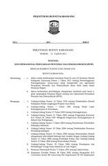 perbup nomor 15 th 2011tentang izin opr perusahaan
