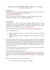 PDF Document regles concours photo selfie