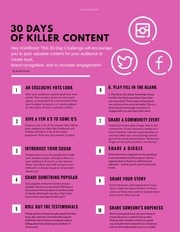 30 days of killer content