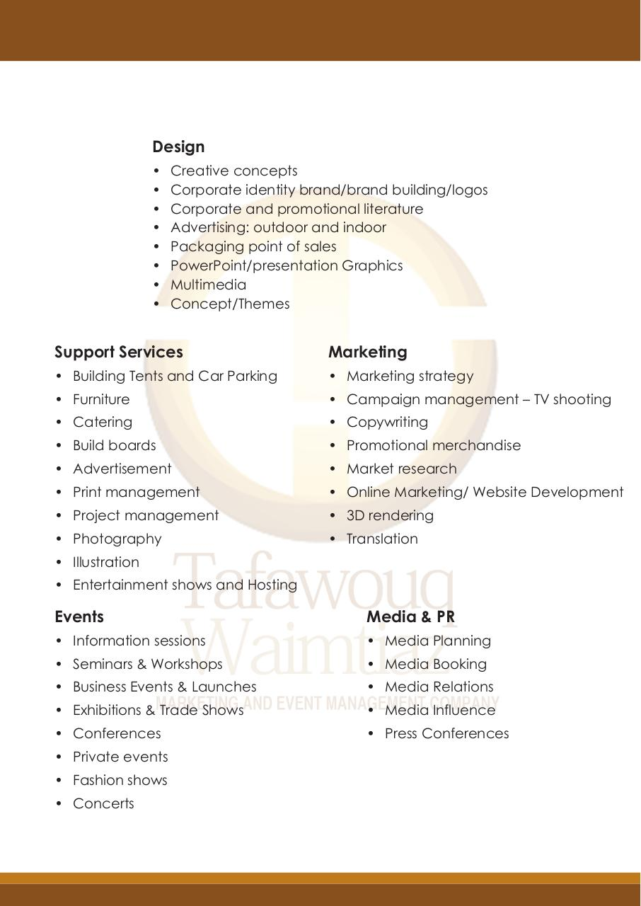 research project on event management