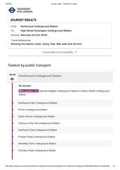 journey results transport for london