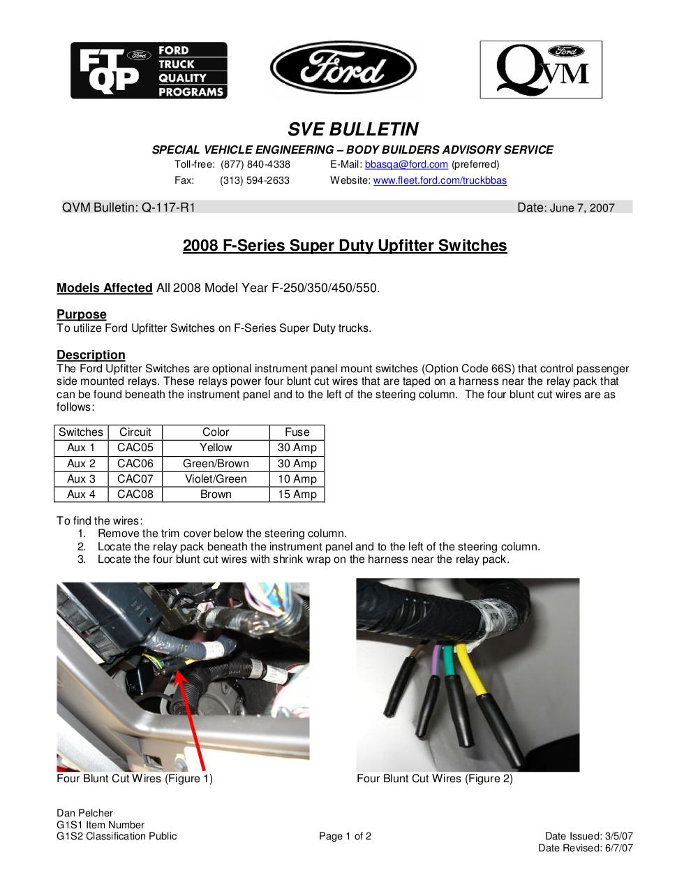 Q117 R1updatedoc By Dpelcher Q117r1 Pdf Archive 2011 F350 Upfitter Switch Wiring Diagram Q117r1pdf