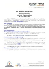 15 general hints tips for air sealing 04 09 2015