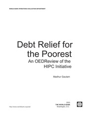 PDF Document debt relief for the poorest