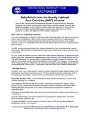 debt relief under the heavily indebted