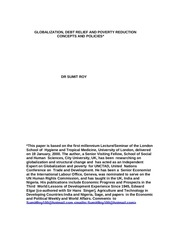globalization debt relief and poverty reduction