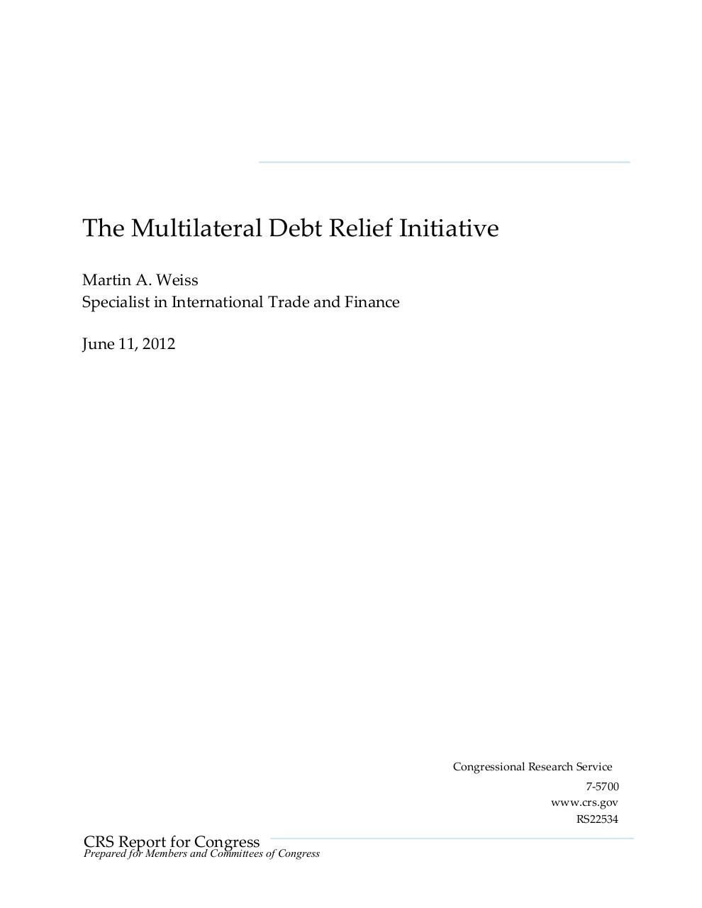 The Multilateral Debt Relief Initiative.pdf - page 1/9