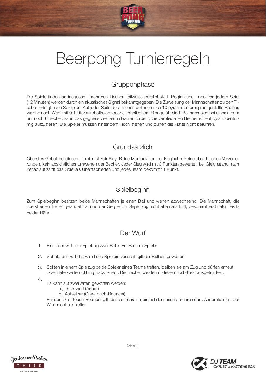 Document preview 2015 Beerpong Turnierregeln.pdf - page 1/3