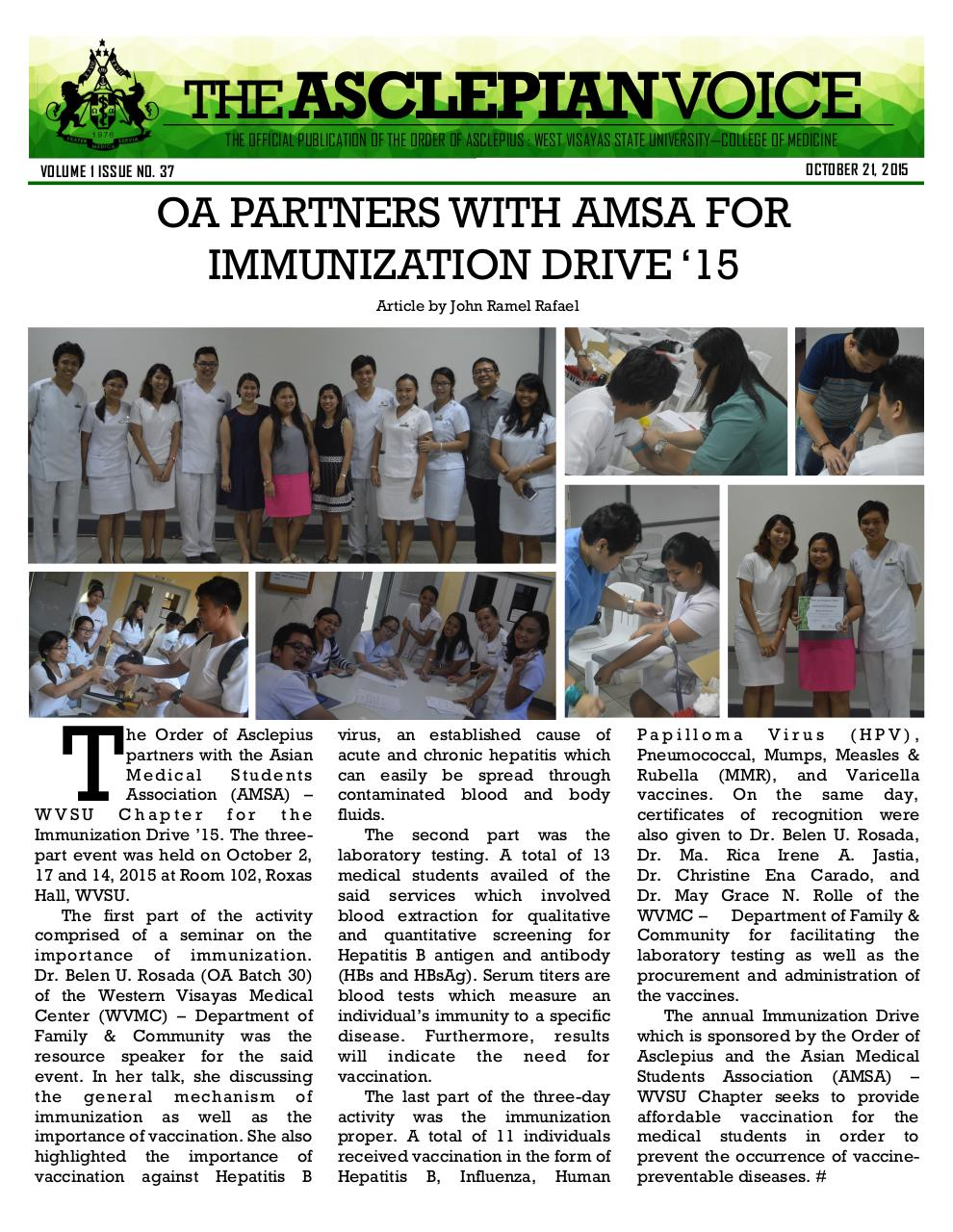 Document preview AV_37 - OA partners with AMSA for Immunization Drive '15.pdf - page 1/1