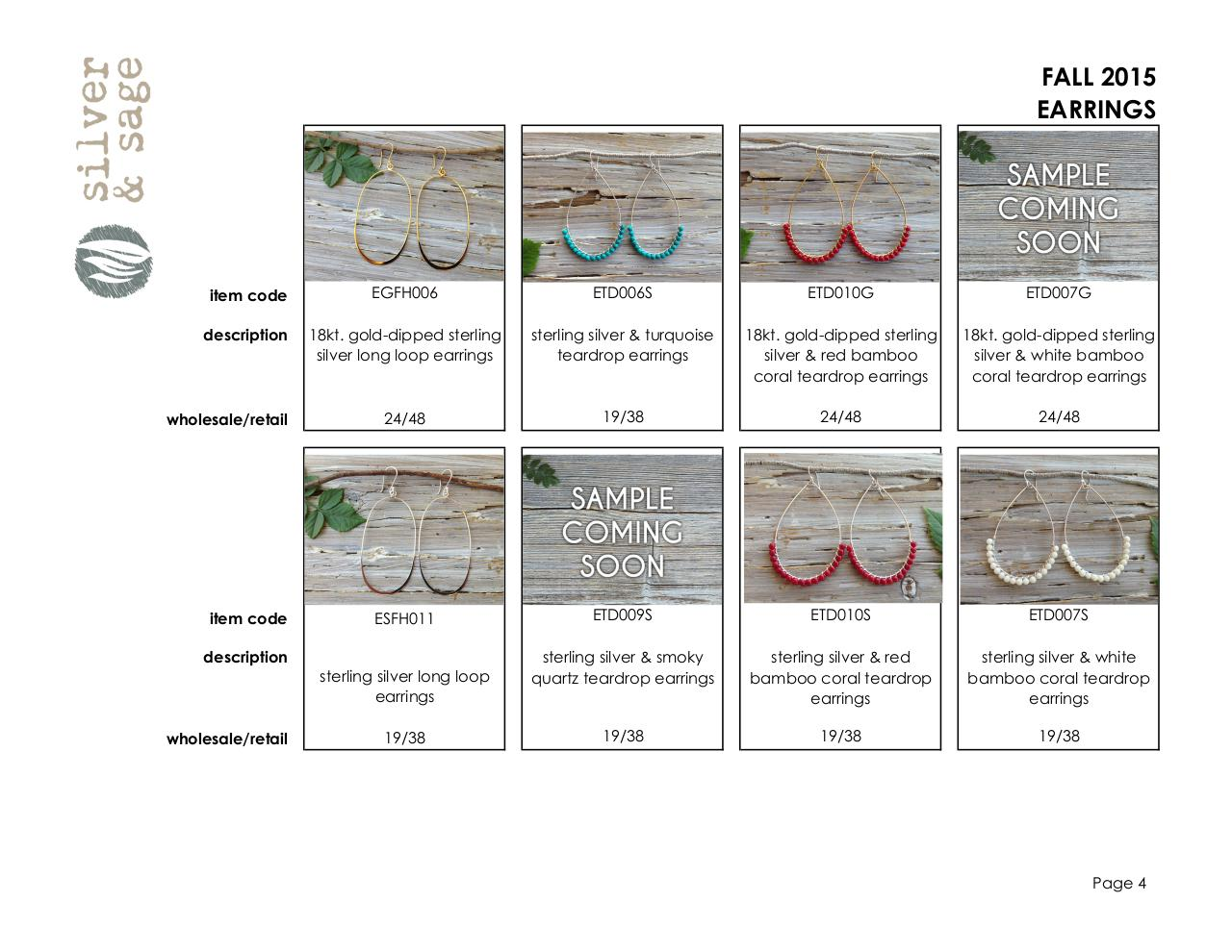 Document preview Line Sheet- Earrings- Fall 2015.pdf - page 4/5