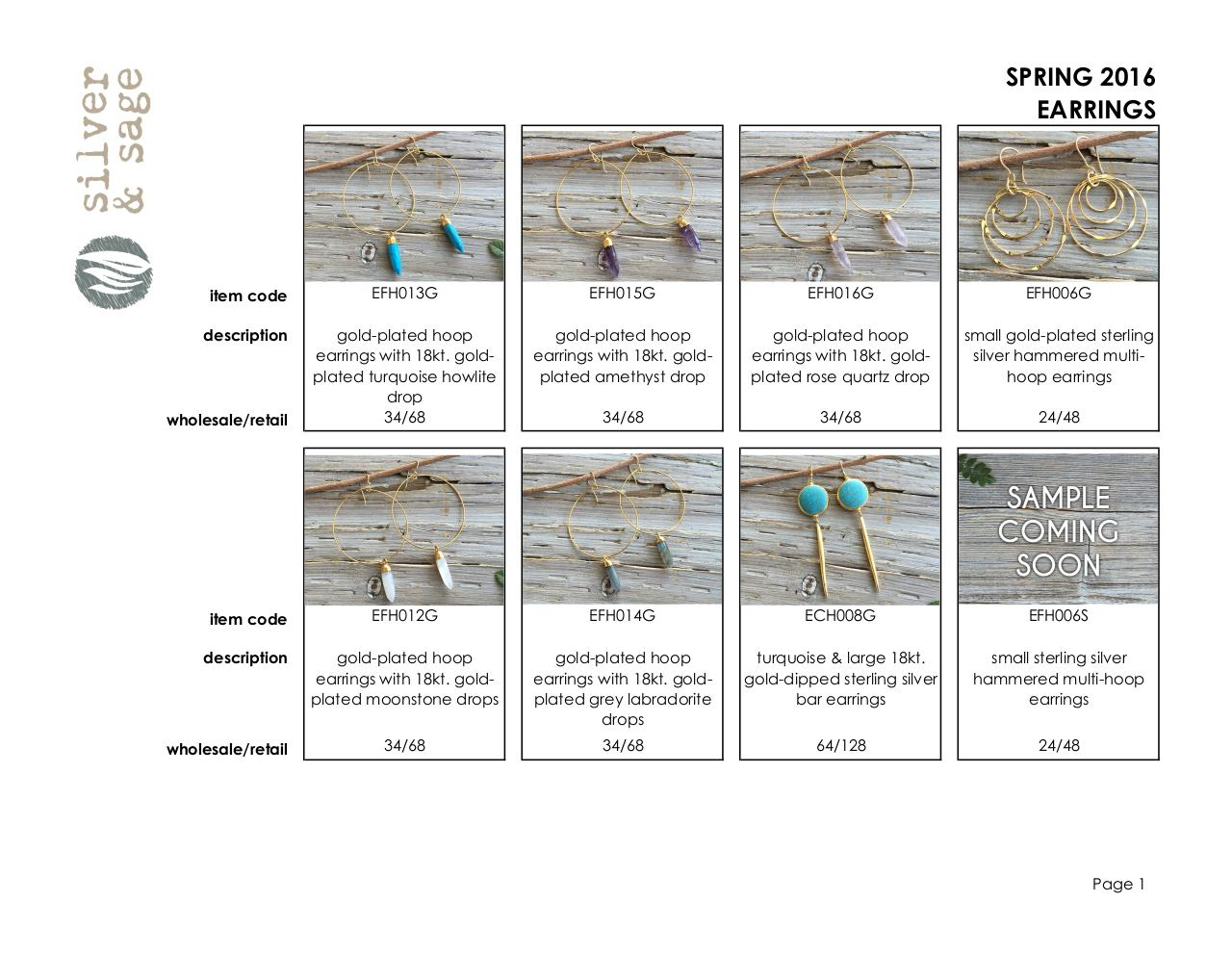 Line Sheet- Earrings- Spring 2016.pdf - page 1/8
