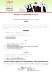 praktikum marketing projektmanagement lh 12