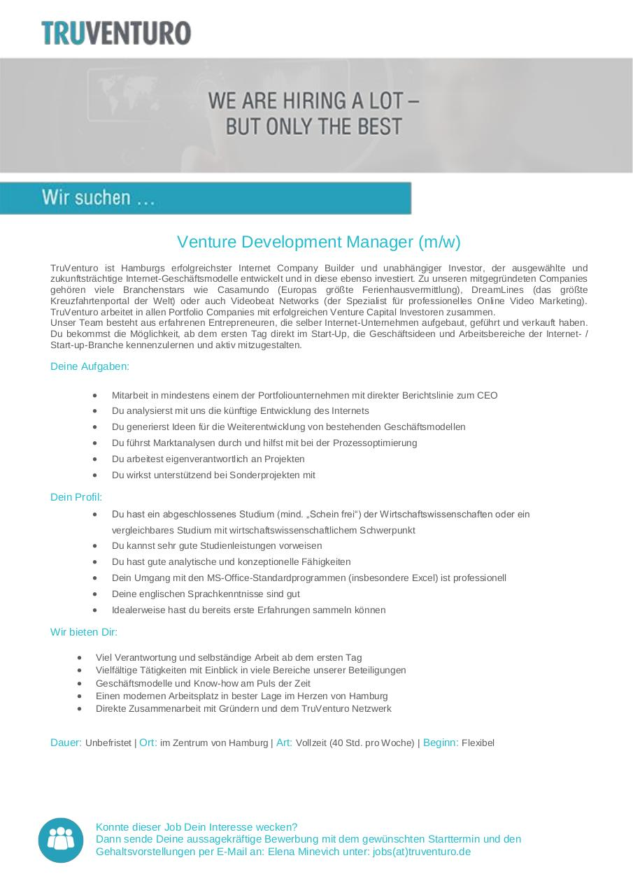 Document preview Venture Dev. ManagerIN.pdf - page 1/1