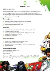 PDF Document lionline it werkstudent