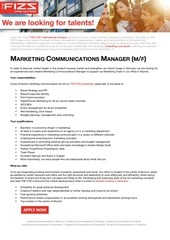 PDF Document marketing communication manager