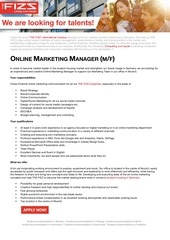 PDF Document online marketing manager