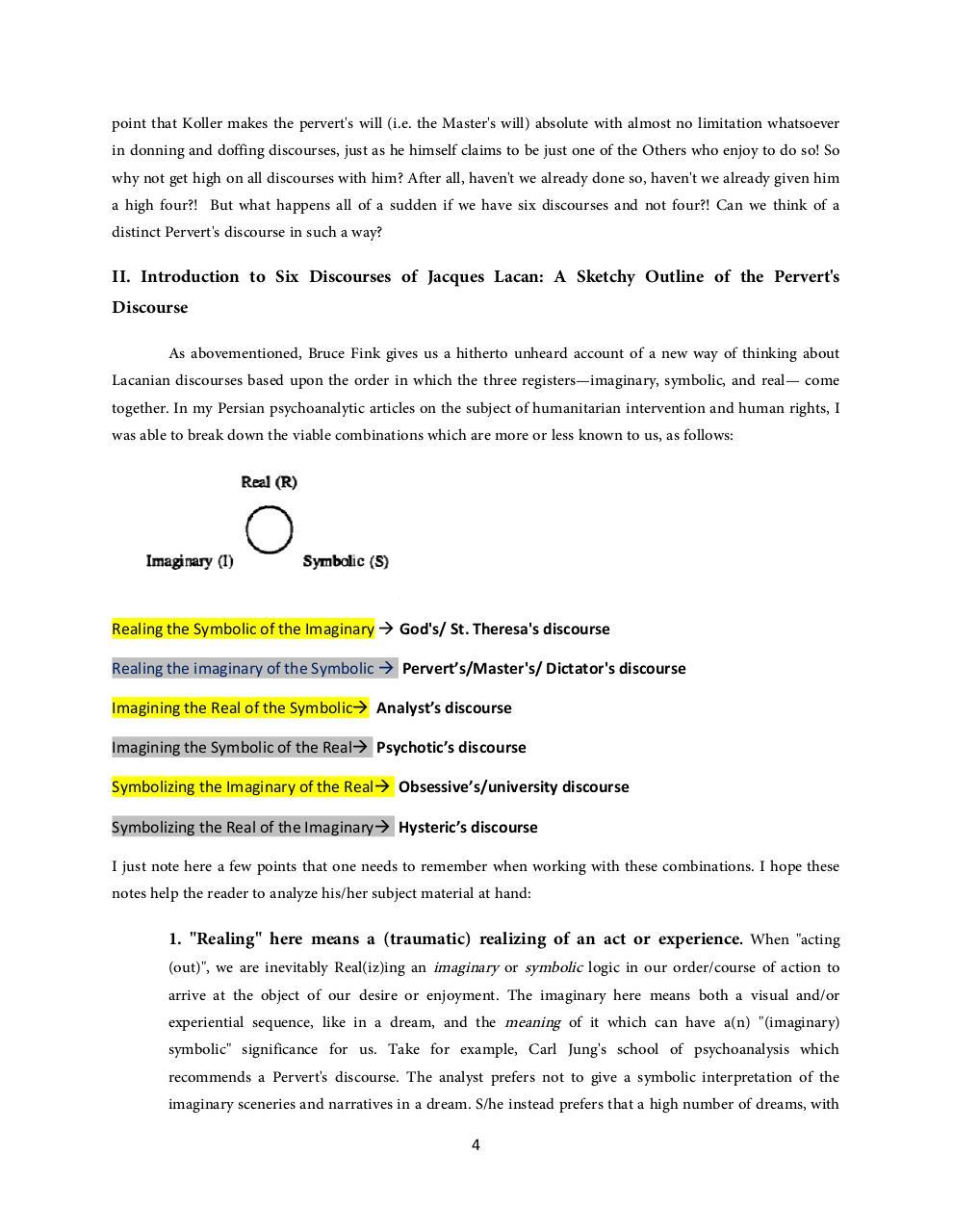 Six Discourses Of Lacanian Psychoanalysis Pdf Archive