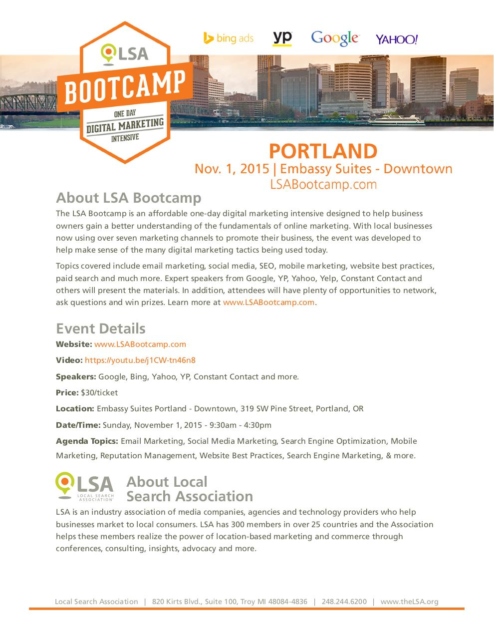 Document preview LSA Bootcamp-Portland-Fact sheet.pdf - page 1/1