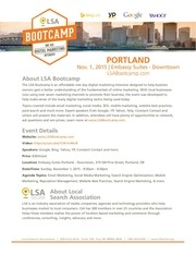 lsa bootcamp portland fact sheet