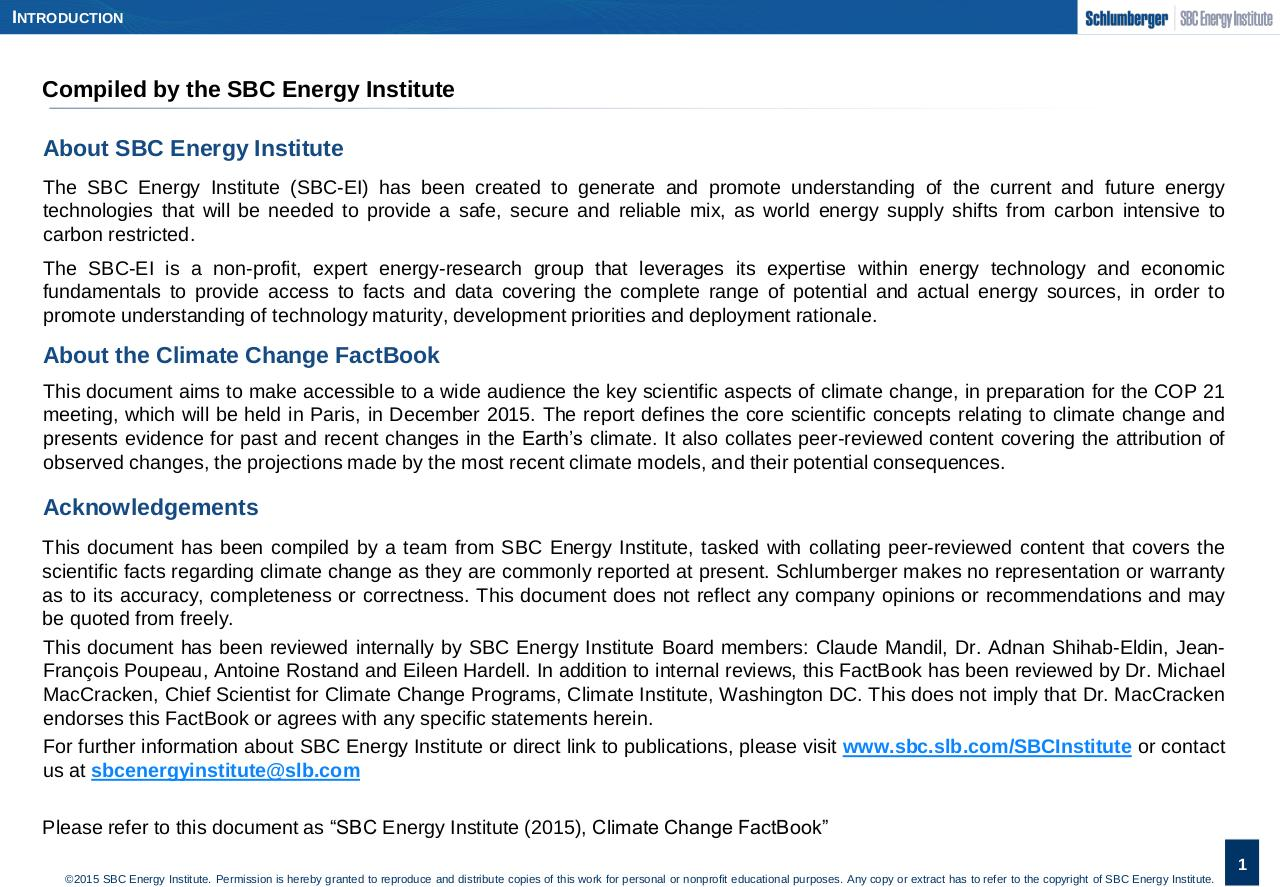 SBC Energy Institute_Climate Change FactBook_2015.pdf - page 2/75