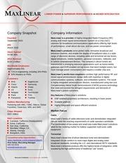 maxlinear corporate fact sheet 001fsr04 collegerecruit