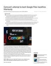 comcast vs google