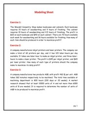 PDF Document 1 modelling sheet