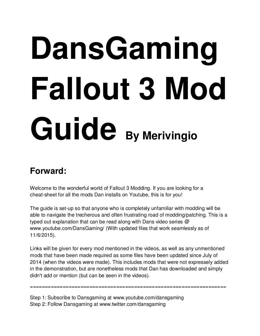 Dansgaming Fallout 3 GOTY Mod Guide (3).pdf - page 1/21