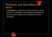 PDF Document predicate and quantifires