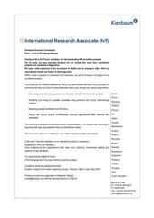 placement offer international research associate