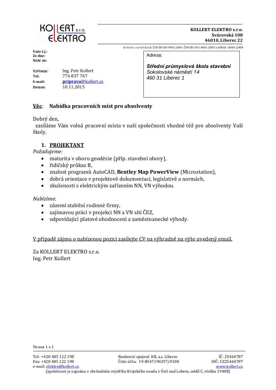 Vzor Objedn 225 Vky A Dopisu 44 Stavlib Inzer 225 T Pdf