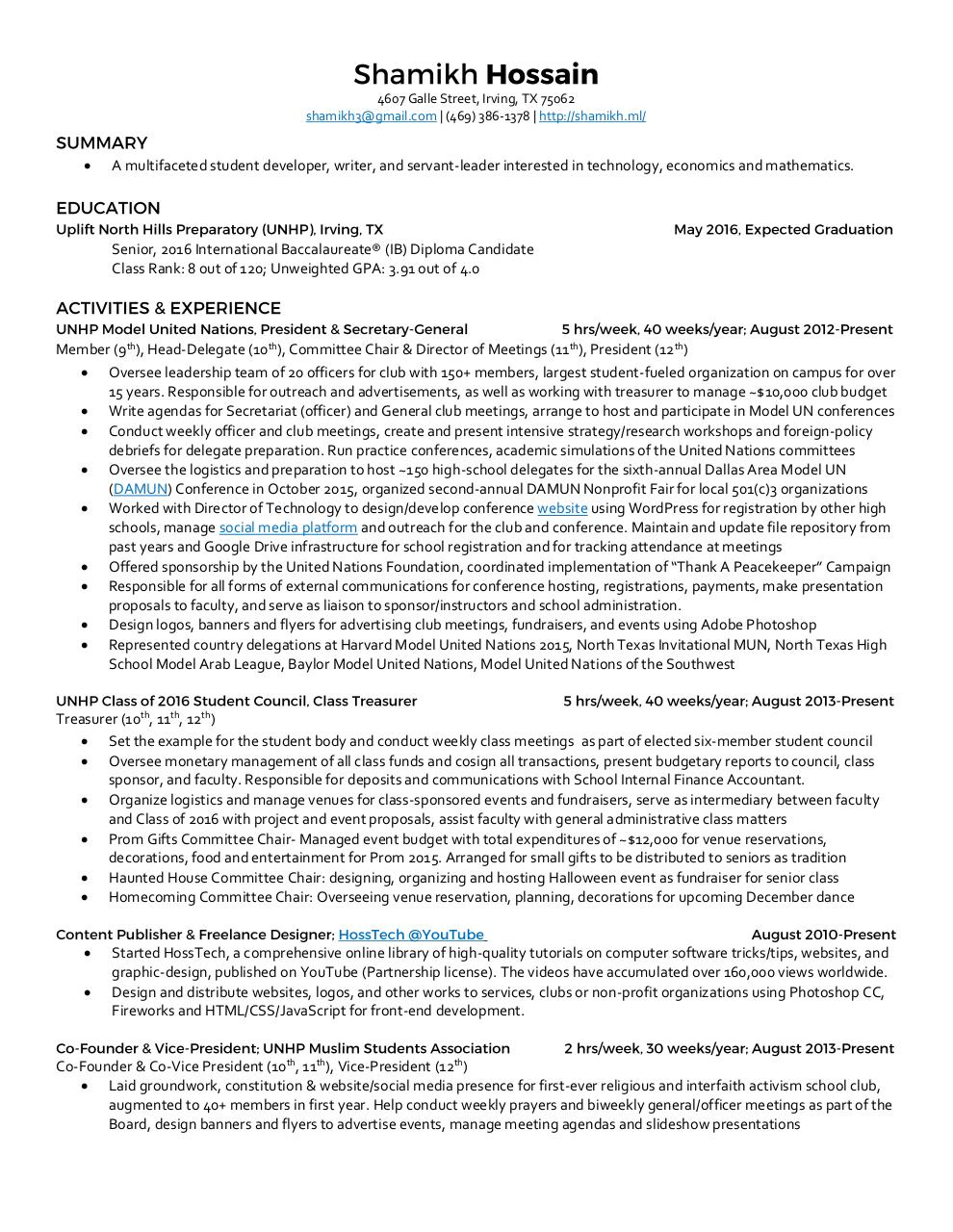 Document preview College Resume.pdf - page 1/2