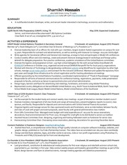 PDF Document college resume