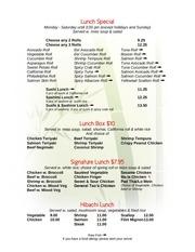 PDF Document menu