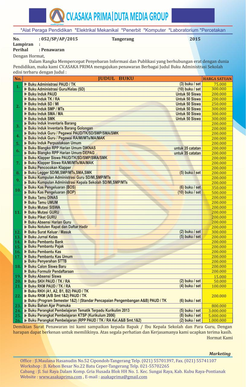 Download Buku Administrasi PAUD (TK KB TPA SPS) GRATIS - PAUD JATENG