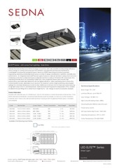 sedna elite led street light spec sheet