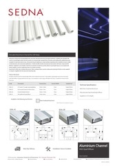 sedna lighting aluminium channel spec sheet