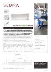 sedna lighting complete led batten spec sheet
