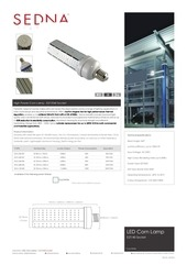 sedna lighting corn lamps spec sheet
