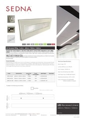 sedna lighting custom 42 recessed linear fitting spec sheet