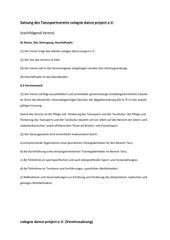satzung cologne dance project u beitragsordnung